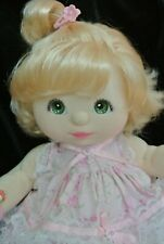 My child doll top knot blonde