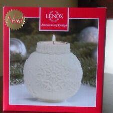 Lenox Ornamental Glow Snowflake Scroll Votive-Nib