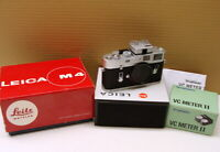 """Leica 10400 - Leica M4 Gehäuse silbern verchromt """"1a Sammlerstück"""" - OVP !"""