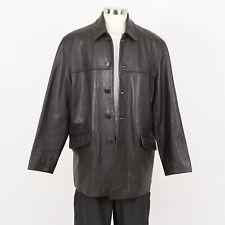 Mens TOM TAILOR Pebble Grain Leather Jacket Size XL