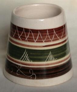 Vintage Sgraffito Mustard or Jam Pot - Dragon Pottery, Rhayader Wales