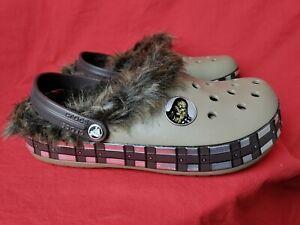 Crocs Men 8 / Women 10 Star Wars Chewbacca Faux Fur Lined Slip On Shoes Slipper