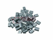 """Pack of 100 Aluminum Crimping Loop Sleeve for 1/8"""" Diameter Wire Rope and Cable"""