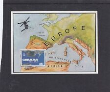 Gibraltar 1978 Europe from Space MS minature sheet unmounted mint