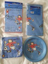 Boy Football Crazy Birthday Party Set X4,bnip,tablecloth,napkin ,invitation,Duni
