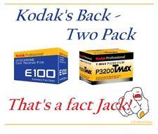 Kodak's Back 2 Pack that's a Fact Jack E100 + P3200 Tmax 36 exposure Rolls