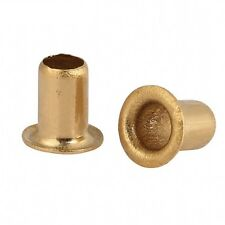 100PCS M4*8mm Copper Brass Vias Rivet Nuts Through Hole Rivets Hollow Grommets