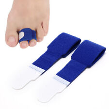 1Pc blue rubber gel toe straightener separator bunion corrector pain reliefRCCA