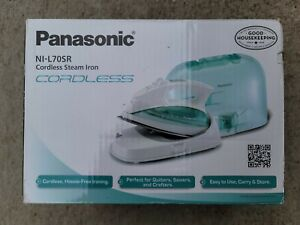 Panasonic NI-L70SR, Cordless Iron Curved Stainless Steel Soleplate New in Box