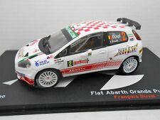 2167 COCHE FIAT ABARTH GRANDE PUNTO Duval 1:43 IXO CAR RALLYE Rally Sanremo 2009