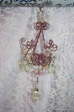 Christmas Ornaments Pink Acrylic Crystal Chandelier Shabby Cottage Chic