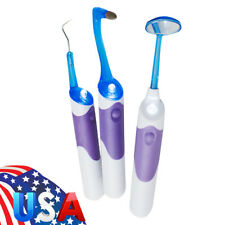 Dental Cleaning Tool Kits LED Light Mirror + Plaque Remove + Tooth Stain Eraser