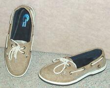 Women's brown Island Surf boat shoes w/ memory foam footbed , size 9