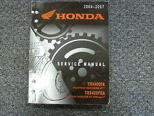 2004 2005 2006 2007 Honda TRX400FA TRX400FGA Fourtrax ATV Service Repair Manual
