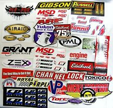 Large Lot of 25 Racing Decals Stickers Hot Rod Drag Race NHRA Nascar Grab Bag