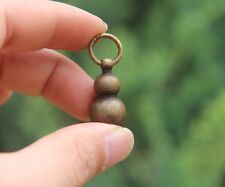 Chinese Buddhism 100% Pure Bronze Gourd Counteract Evil Force Amulet Pendant