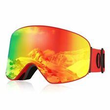 Adults Snow Ski Goggles Anti-fog Lens Snowboard Snowmobile Motorcycle Uv 400 Us