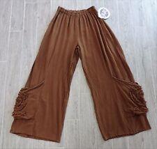 NWT's Oh My Gauze! OMG Spyro Amber Cotton Lagenlook Pants OS