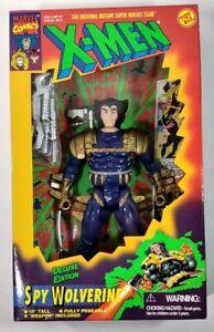 "Toy Biz Marvel Comics X-Men Deluxe Edition Spy Wolverine 10"" 1996 with Box"