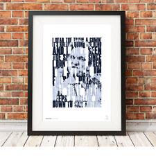 More details for johnny cash ❤ folsom prison blues ❤ lyrics poster art limited edition print #122