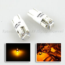 2 X T10 194 LED REPALCEMENT LIGHT BULBS FOR INTERIOR 10 SMD CHIPS JDM YELLOW W5W