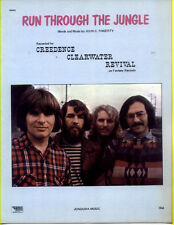 Ccr / Creedence Clearwater Revival 1970 Run Through The Jungle Sheet Music Nice!