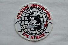 US Newark SAC Strategic Investigations Police Patch Obsolete