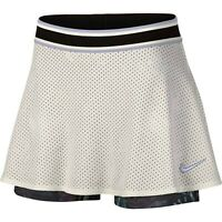NIKE Court Dri-FIT White Perforated Tennis Skirt Women's Size Large AO0341-133