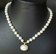 Vintage*c.1980's*STUNNING*CLASSIC**CAROLEE**FAUX PEARL NECKLACE**KNOTTED*45cm*