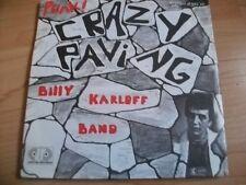 "billy karloff band crazy paving 1978  7"" vinyl 45 rare punk"