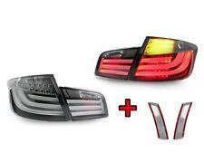 11-13 BMW F10 5 Series Whiteline Light Bar LED Tail Lights + Clear Side Markers