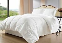 King Size All Season Down Alternative Comforter Egyptian Cotton White Solid