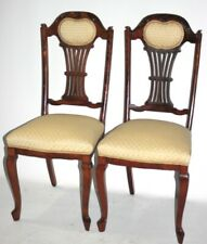 A Pair of Vintage Chippendale Walnut Dining Chairs - FREE Shipping [P4966]