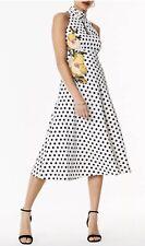 Karrem Millen Halterneck Polka Dot Dress Size 14 RRP £275