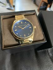 Michael Kors Gold And Blue Gents Watch