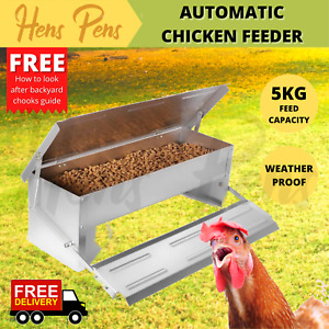 Automatic Chicken Feeder Auto Poultry Chick Feeders Self Opening Treadle Chook