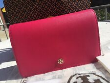 f99653e48850 NWT Tory Burch York BK Saffiano Leather Combo Cross-Body Clutch Bag   40880  0817