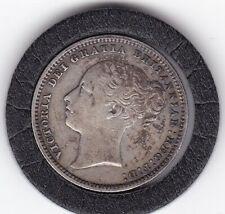 1879   Queen   Victoria   Sterling   Silver  Shilling  British Coin