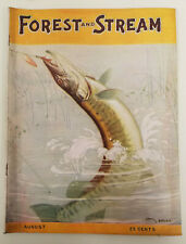 Forest and Stream Rod and Gun Aug 1924 Vol XCIV No 8 Louis Rhead Cover