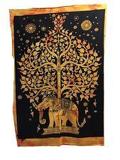 Tapiz Colgante De Pared Mandala Indio árbol de tamaño póster Elefante Amarillo tapices