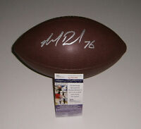 PACKERS Mike Daniels signed football w/ #76 AUTO JSA COA Autographed Green Bay