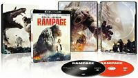 Rampage 4K Ultra HD UHD + Blu-Ray + Digital - RARE SteelBook Dwayne Johnson Rock