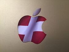 """Denmark / Danish Flag Apple Logo Vinyl Decal Sticker for Apple MacBook  13"""" 15"""""""