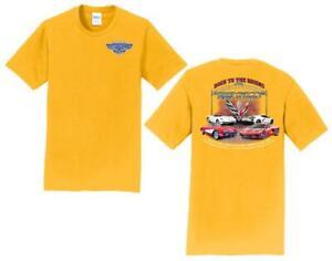 11th Annual Corvette Reunion @ BACK TO THE BRICKS T Shirt YELLOW SIZE SM LRG XL