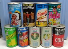 9 Assorted Collectable Cans (Empty) 12 oz. Opened from Bottom