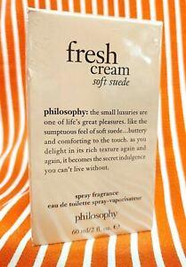 Philosophy FRESH CREAM SOFT SUEDE Toilette EDT Perfume Spray Fragrance 2 oz BOX!