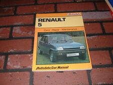 N.O.S. AUTODATA MANUAL FOR RENAULT 5 MODELS. 1972 TO 1985.