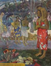 Vintage Paul Gauguin La Orana Maria Litho Tahiti Native Post Impressionist #S73