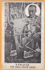 Aviation Advertising Postcard - Vin Fiz Cal Rodgers Rogers Wreck Middletown NY