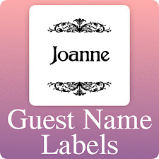 100 square custom WEDDING GUEST LIST NAME LABELS 5x5 INVITATIONS STICKY STICKERS